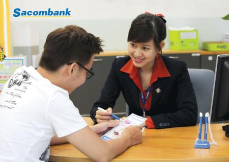Giảm lãi suất khi vay thế chấp số đỏ tại Sacombank