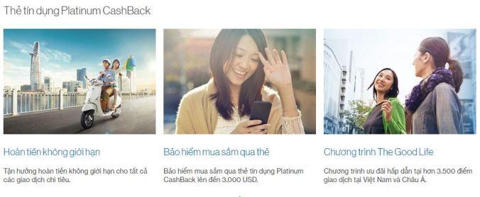 Chương trình mở thẻ tín dụng Platinum CashBack Standard Chartered
