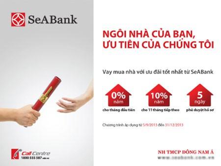 Vay vốn thế chấp ngân hàng Seabank nhanh chóng